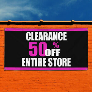Vinyl Banner Sign Clearance 50 Off Entire Store Sale Business Business White