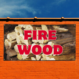 Vinyl Banner Sign Fire Wood 1 Style A Business Marketing Advertising Red