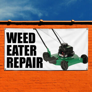 Vinyl Banner Sign Weed Eater Repair Business Marketing Advertising White