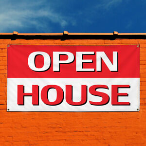 Vinyl Banner Sign Open House Business Style C Outdoor Marketing Advertising Red