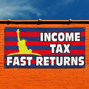 Vinyl Banner Sign Income Tax Fast Returns 3 Tax Marketing Advertising Pink