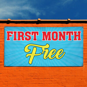 Vinyl Banner Sign First Month Free 1 Ads Outdoor Marketing Advertising Blue
