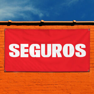 Vinyl Banner Sign Seguros Business Seguro Outdoor Marketing Advertising Red