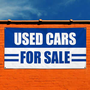 Vinyl Banner Sign Used Cars For Sale Auto Body Shop Marketing Advertising Blue