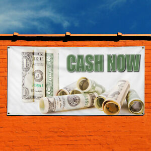 Vinyl Banner Sign Cash Now 1 Style A Business Marketing Advertising White