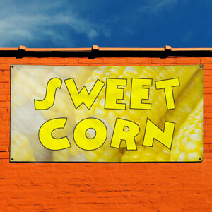 Vinyl Banner Sign Sweet Corn 1 Business Outdoor Marketing Advertising Yellow