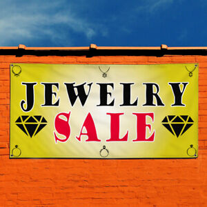 Vinyl Banner Sign Jewelry Sale 1 Business Auction Marketing Advertising Red