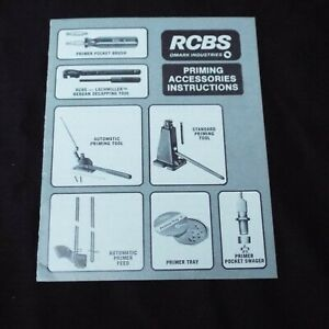 RCBS PRIMINIG ACCESSORIES INSTRUCTIONS Primer Tool Manual Pamphlet