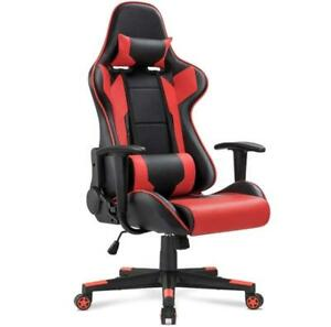 Racing Style Ergonomic Office Gaming Chair Swivel Adjustable Height