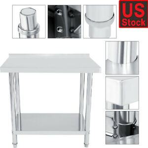 Stainless Steel Work Table 18 X 48 Food Prep Nsf Utility Work Station Us