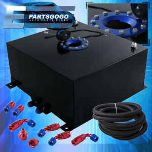 Black W Blue Cap 10 Gallon Fuel Tank Black Oil Fuel Line Red Blue Fittings