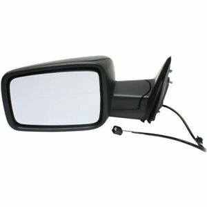 Manual Mirror For 2013 2018 Ram 1500 Left Side Manual Fold Textured Black