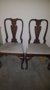 Hickory Chair Co Queen Anne Style Mahogany Wood Dining Room Chair