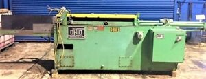 5 Ton X 48 Stroke Ohio Horizontal Broaching Machine Hydraulic W Tooling 15hp