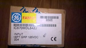Sealed Ge Fanuc Ic670mdl642j Input 16pt Grp 125vdc New
