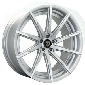 4 set 20 Staggered Wheels And Tires Lexani Css 15 Silver W Machined Tips