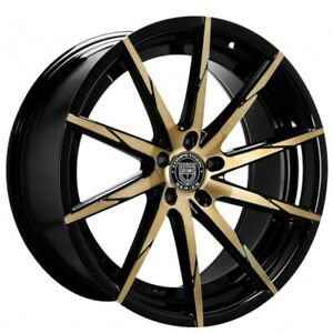 4 set 20 Staggered Wheels And Tires Lexani Css 15 Black With Bronze