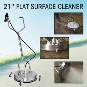 Hq 21 flat Surface Cleaner High Pressure Washer Water Concrete Cleaning Trolley