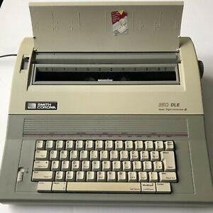 Smith Corona Electronic Typewriter 350 Dle Tested Great In Original Box
