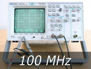 Hp Agilent 54645a 2 channel 100 Mhz Oscilloscope 2 New Probes Very Clean