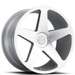4 set 20 Wheels And Tires Blaque Diamond Bd 15 Silver Machined