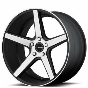 4 set 20 Kmc Km685 District Black Machined Wheels And Tires