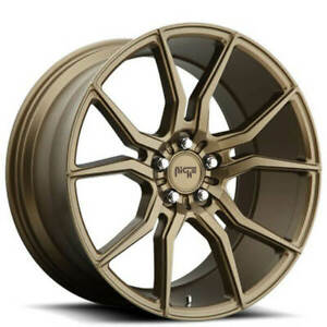 4 Set 19 Staggered Niche M167 Ascari Bronze Wheels And Tires