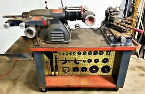 Ammco 4000 Disc Drum Brake Lathe With Stand Adapters Shoe Grinder