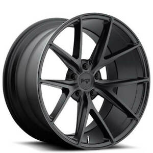 4 Set 18 Staggered Niche M117 Misano Matte Black Wheels And Tires