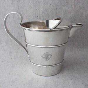Art Deco Shreve Co Sterling Silver Watering Can Cocktail Water Martini Pitcher