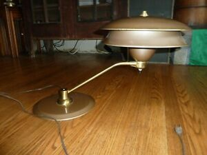 Table Light Vintage Mid Century Atomic Eames Space Ship Flying Saucer Student