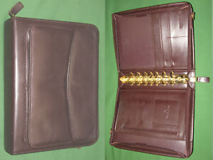 Classic 1 5 Dark Brown Full Grain Leather Franklin Covey Planner Binder 102