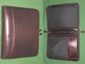 Desk 1 5 Red Leather Day Timer Planner Binder Classic Franklin Covey 8206
