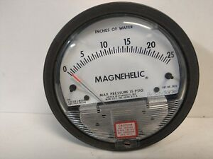 New Old Stock Dwyer Magnehelic 0 25 h20 Pressure Vaucuum Gauge 2025