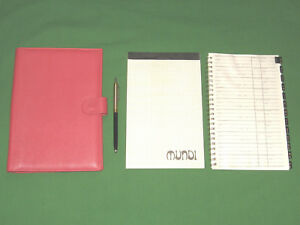 Compact Pink Leather Mundi Planner Telephone Address Lot Franklin Covey Binder