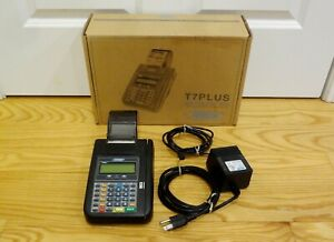Hypercom T7plus Credit Card Machine Pos Terminal Printer Pwr Supply Orig Owner