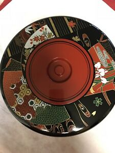 Vintage Japanese Lacquer Ware Sushi Rice Serving Set 8 Pieces