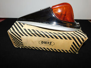 Nos Vintage Nib Dietz 80 Cf A 12v Amber Glass Clearence Lights Truck Bus