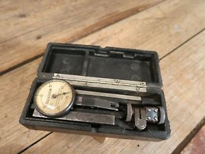 Vintage Federal Testmaster Dial Indicator Jeweled 001 With Case