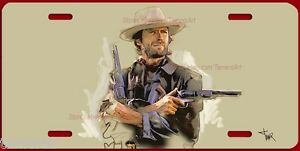 Clint Eastwood Artwork Western Outlaw License Plate Made In Usa