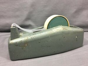 Scotch Brand Heavy Duty Dispenser Model C 23 Art Deco Green Vintage