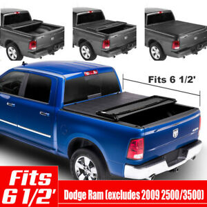Tri fold Tonneau Cover For 2009 2018 Dodge Ram 1500 2500 3500 6 5 Bed