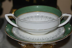 Lovely Vintage Royal Worcester Regency Cream Soup Double Handle Cup