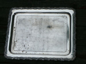 Antique 1890s 20 X 15 3 4 Silverplate Tray Scroll Border Barbour Silver