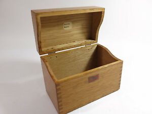 Antique Early 1900s Weis Solid Oak Desk Top Index Card File Box