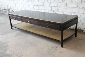 Paul Mccobb For Calvin Irwin Collection Double Sided Leather Top Coffee Table