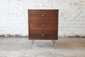 Paul Mccobb Planner Group Three Drawer Chest On Hairpin Legs
