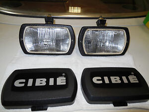 Cibie Type 95i Clear Fog Lamps Genuine Pair Complete New With Bulbs