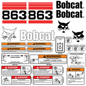 Bobcat 863 V2 Skid Steer Set Vinyl Decal Sticker Bob Cat Usa 25 Pc Set