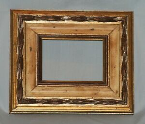 Vintage Painted Wood Gold Gilt Picture Art Frame 5 X 7